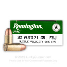 32 ACP - 71 Grain FMJ - Remington UMC - 50 Rounds