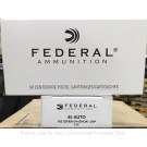 45 ACP - 185 gr JHP - Federal Classic Personal Defense - 1000 Rounds