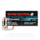 40 S&W - 180 Grain JHP - Winchester Ranger Bonded - 500 Rounds - LE Trade-In