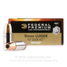 9mm - 147 Grain HST JHP - Federal Premium Law Enforcement - 50 Rounds