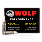 7.62x39 - 123 Grain HP - WOLF WPA Polyformance - 1000 Rounds