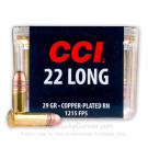 22 Long - 29 gr CPRN- CCI - 100 Rounds