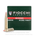 204 Ruger - 40 Grain V-Max - Fiocchi - 50 Rounds