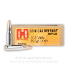 308 Win - 155 Grain FTX - Hornady Critical Defense - 200 rounds