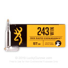 243 - 97 Grain Rapid Expanding Matrix Tip - Browning BXR Deer - 20 Rounds