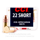 22 Short - 29 gr CPRN - CCI Short - High Velocity - 100 Rounds