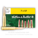 7x57mm Mauser - 140gr FMJ - Sellier & Bellot - 20 Rounds