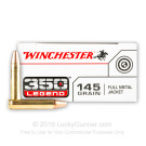 350 Legend - 145 Grain FMJ - Winchester USA - 200 Rounds