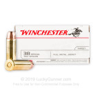 38 Special - 130 Grain FMJ  - Winchester USA - 500 Rounds