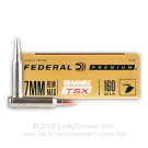 7mm Rem Mag - 160 Grain Barnes TSX - Federal - 20 Rounds