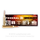 270 WSM - 150 gr Fusion - Federal Fusion - 20 Rounds