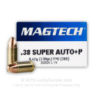 38 Super - +P 130 Grain FMJ - Magtech - 50 Rounds