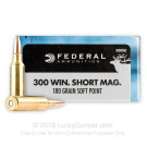 300 Winchester Short Magnum - 180 gr SP - Federal Power-Shok - 20 Rounds