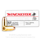 32 ACP - 71 Grain FMJ - Winchester USA - 50 Rounds