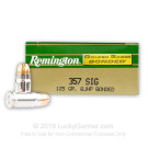357 Sig - 125 Grain JHP - Remington Golden Saber Bonded - 50 Rounds
