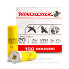 "20 Gauge - 2-3/4"" #7-1/2 Lead Shot - Winchester USA Game & Target - 100 Rounds"