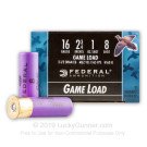 "16 Gauge - 2-3/4"" 1 oz #8 shot - Federal Game Shok - 25 Rounds"