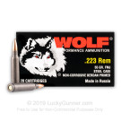 223 Rem - 55 Grain FMJ - Wolf Performance - 1000 Rounds