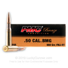 50 Cal BMG - 660 Grain FMJBT - PMC - 10 Rounds