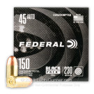45 ACP - 230 Grain FMJ - Federal Black Pack - 600 Rounds