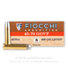 45-70 Government - 405 Grain LRN FP - Fiocchi - 200 Rounds