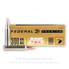 300 Winchester Magnum - 180 Grain Barnes TSX - Federal - 20 Rounds