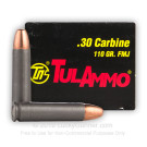 30 Carbine - 110 Grain FMJ - Tula - 50 Rounds