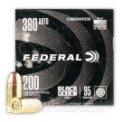 380 Auto - 95 Grain FMJ - Federal Black Pack - 800 Rounds