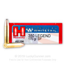350 Legend - 170 Grain InterLock - Hornady American Whitetail - 20 Rounds