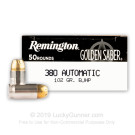 380 Auto - 102 Grain JHP - Remington Golden Saber - 500 Rounds