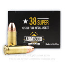 38 Super - 125 gr FMJ - Armscor - 50 Rounds