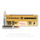 7mm-08 Rem - 140 Grain Barnes TSX - Federal - 20 Rounds