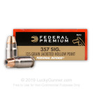 357 Sig - 125 gr JHP - Federal - 50 Rounds
