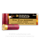 "12 Gauge - 2-3/4"" 00 Buck 9 Pellets - Federal Tactical LE with FliteControl Wad - 250 Rounds"