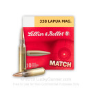 338 Lapua Magnum - 250 Grain HPBT MATCH - Sellier & Bellot - 100 Rounds