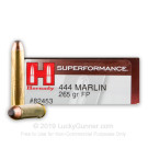 444 Marlin - 265 Grain Interlock FSP - Hornady Superformance - 20 Rounds