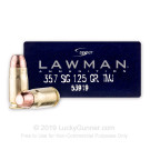 357 Sig - 125 Grain TMJ - Speer Lawman - 1000 Rounds