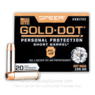 357 Mag - 135 gr JHP - Speer Gold Dot - Short Barrel - 20 Rounds