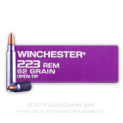 223 Rem - 62 Grain OT - Winchester DHS Purple Casing - 1000 Rounds