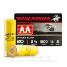"20 Gauge - 2-3/4"" #8 Lead Shot - Winchester AA Target - 250 Rounds"