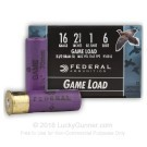 "16 ga - 2-3/4"" - 1 oz - #6 Shot - Federal Game Shok - 25 Rounds"