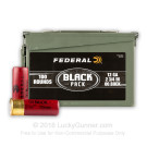 "12 Gauge - 2 3/4"" 00 Buckshot - Federal BLACK - 100 Round Ammo Can"