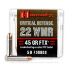 22 WMR - 45 gr FTX Critical Defense - Hornady - 50 Rounds
