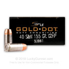 40 S&W - 155 gr JHP - Speer Gold Dot LE - 1000 Rounds