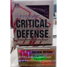 25 ACP - 35 Grain FTX - Hornady Critical Defense - 25 Rounds