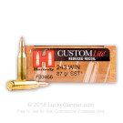 243 Win - 87 Grain SST - Hornady Custom Lite - 20 Rounds