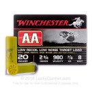 "20 Gauge - 2-3/4"" 7/8 oz #8 Shot - Winchester AA Low Recoil Target - 25 Rounds"