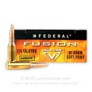 224 Valkyrie - 90 Grain SP - Federal Fusion - 20 Rounds