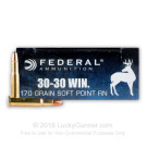 30-30 - 170 Grain SP Round Nose- Federal Power-Shok - 20 Rounds