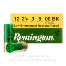 "12 Gauge - 2-3/4"" 00 Buck - Remington Reduced Recoil - 25 Rounds"